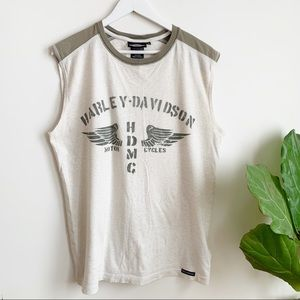 HARLEY DAVIDSON Graphic Muscle Tee Tank Top M